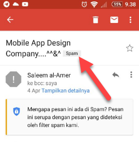 Email Spam Gmail Android