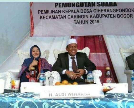 H Aldi Wiharsa Calon Incumbent Terpilih Lagi Jadi Kades Ciherangpondok dalam Pilkades Serentak