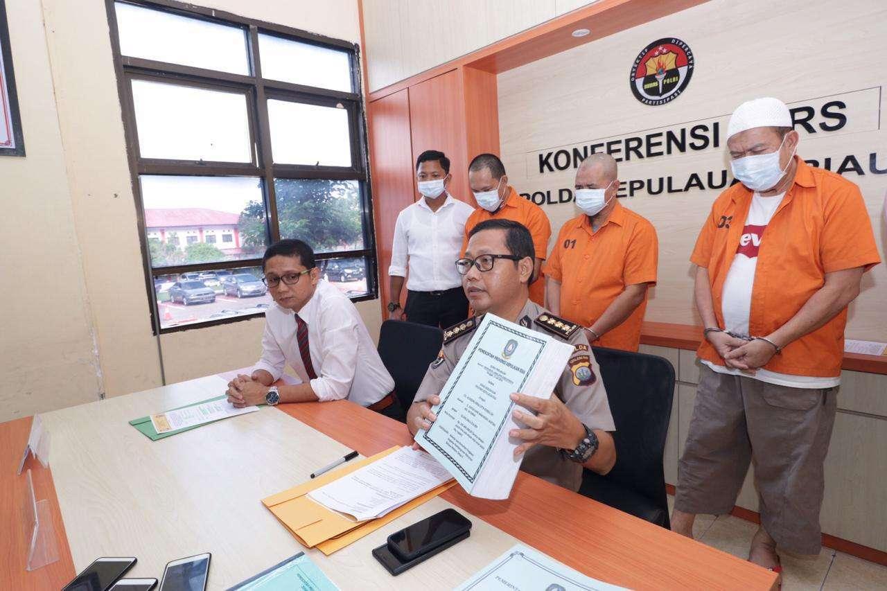 Ditreskrimsus Polda Kepri Berhasil Ungkap  Kasus Korupsi Monumen Bahasa Melayu