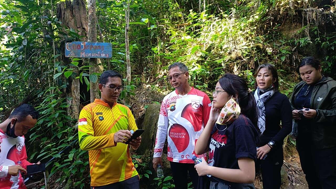 Kapolda Babel Sempatkan Berkunjung ke Goa Jepang Bukit Menumbing