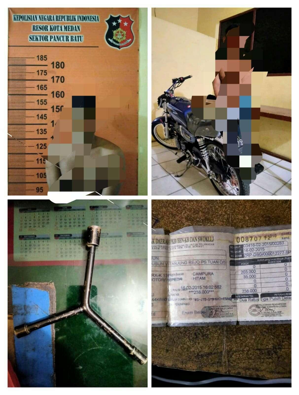 Pencuri Sepeda Motor Berhasil Ditangkap Tekap Polsek Pancur Batu Saat Beraksi