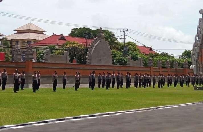 100 Personel Dalmas Polda Bali Dikirim ke Jakarta