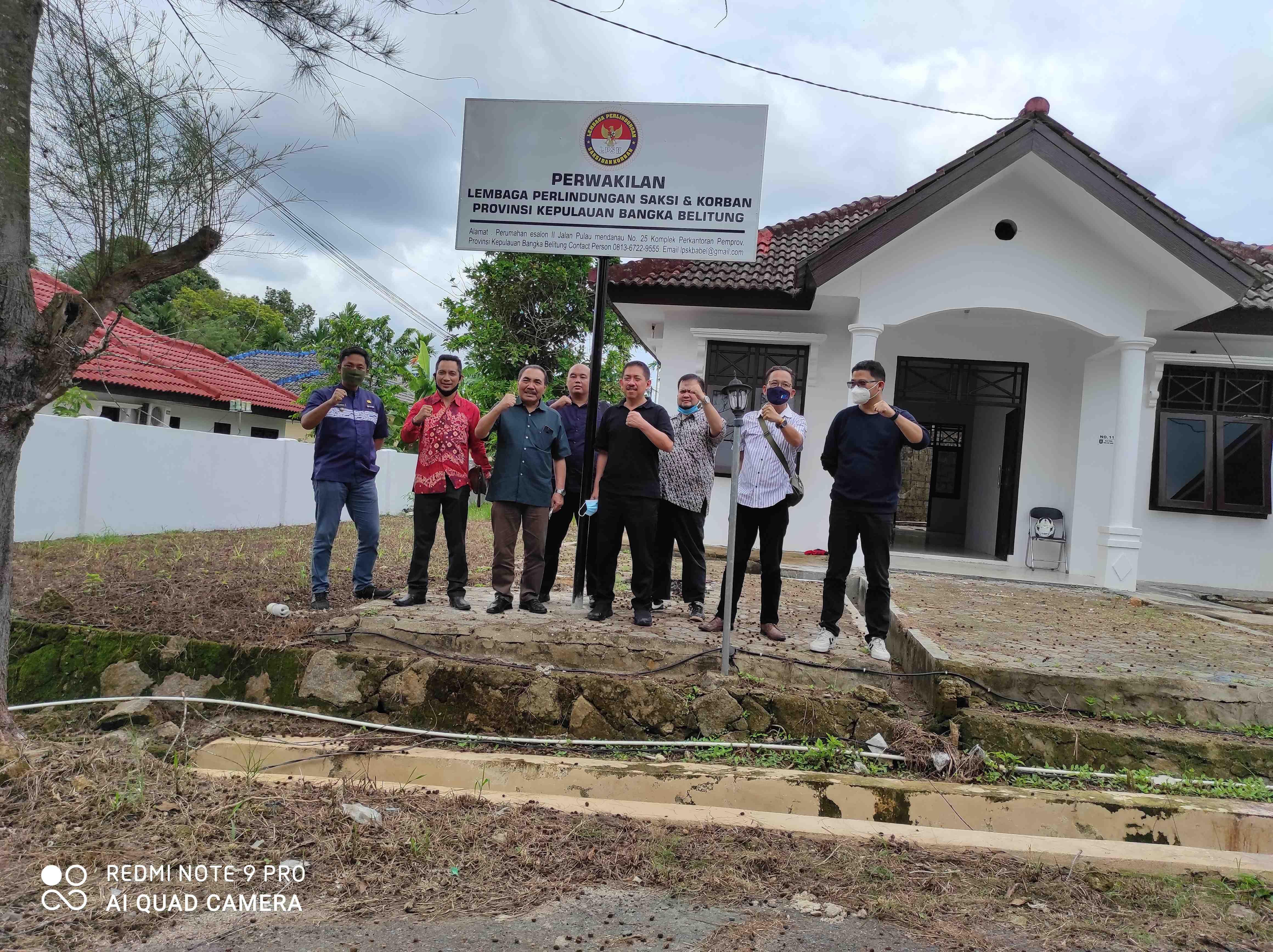 Ketua LPSK Tinjau Kantor Perwakilan LPSK Bangka Belitung Dan Sampaikan Terimakasih Kepada Gubernur Babel Atas Dukungannya