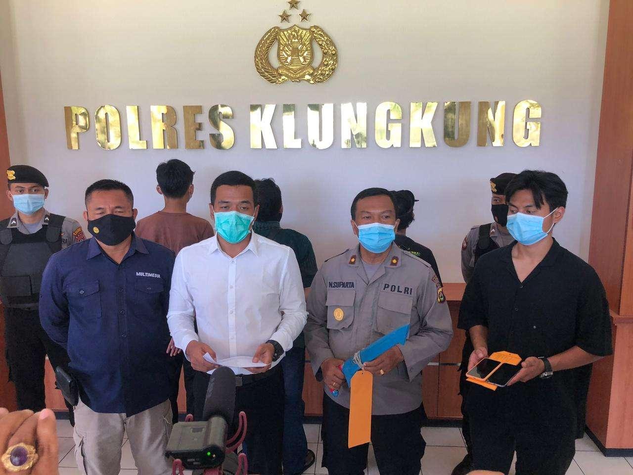 Polres Klungkung Press Release Kasus Perkelahian Tanding dan Penganiayaan