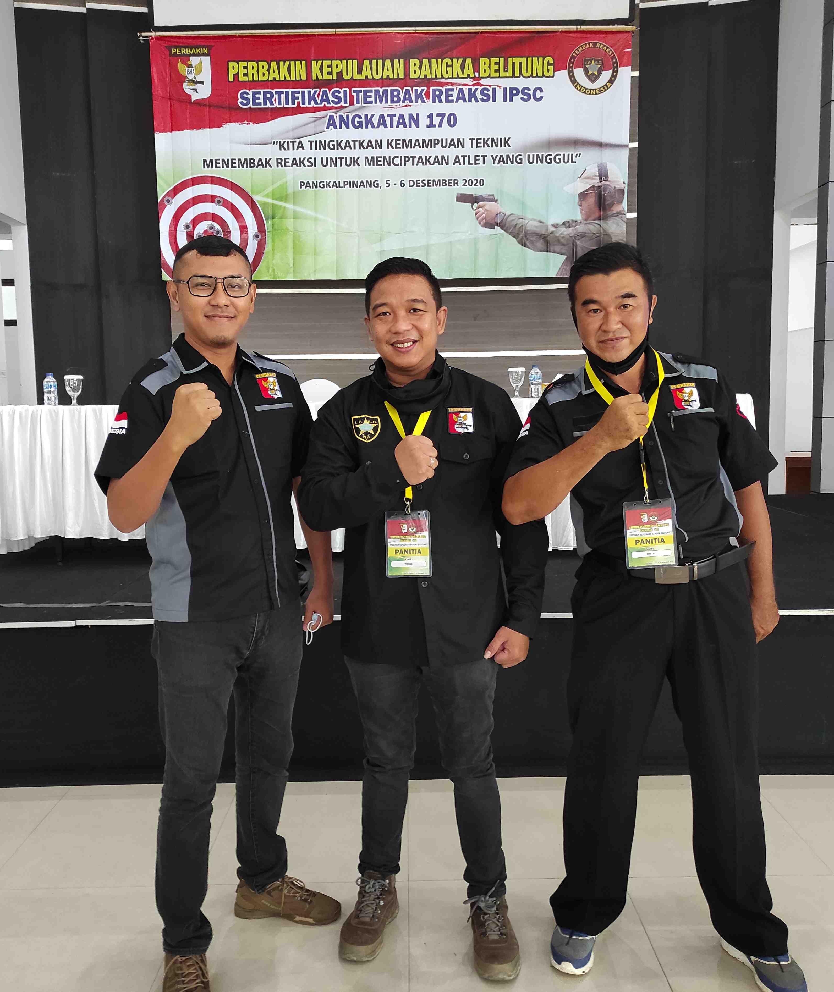 Perbakin Kepulauan Bangka Belitung Gelar Sertifikasi IPSC Angkatan 170