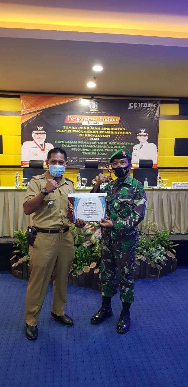 Danramil Wonoasih Mengatakan Sinergitas Yang Terjalin Baik di Kecamatan Wonoasih Mendapatkan Penghargaan