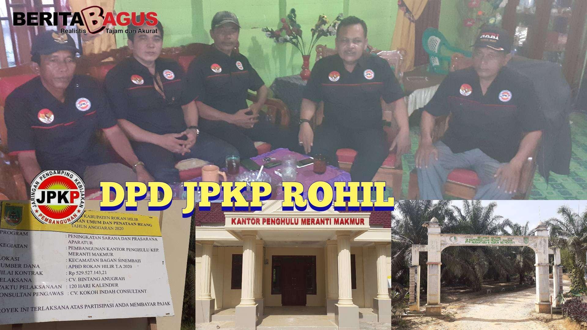 JPKP Rohil Temukan Kejanggalan Pembangunan Kantor Penghulu Meranti Makmur